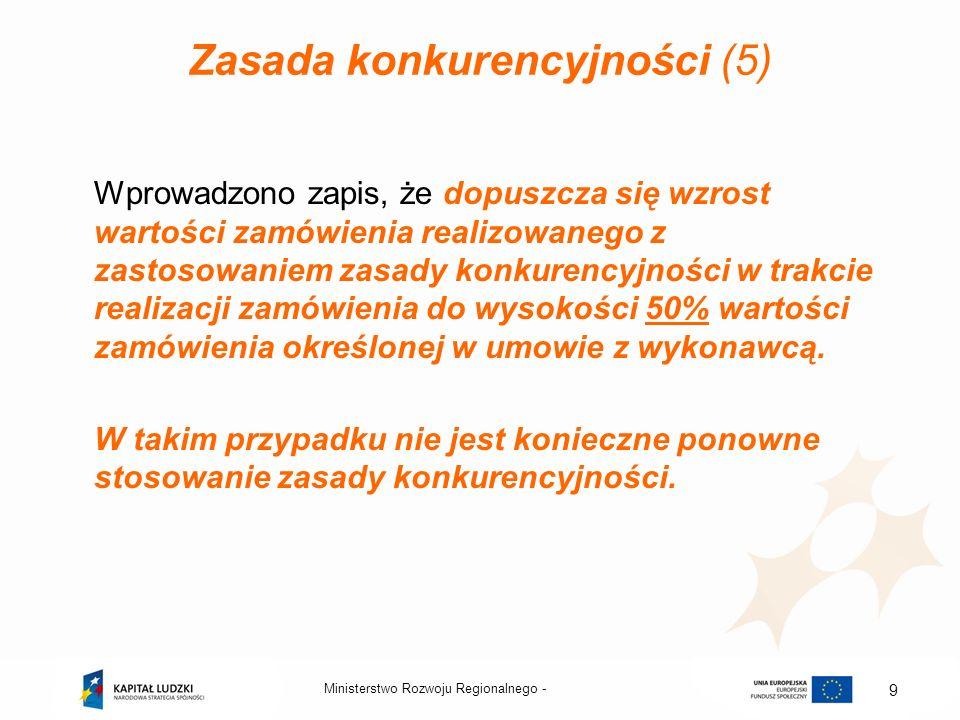 Zasada konkurencyjności (5)