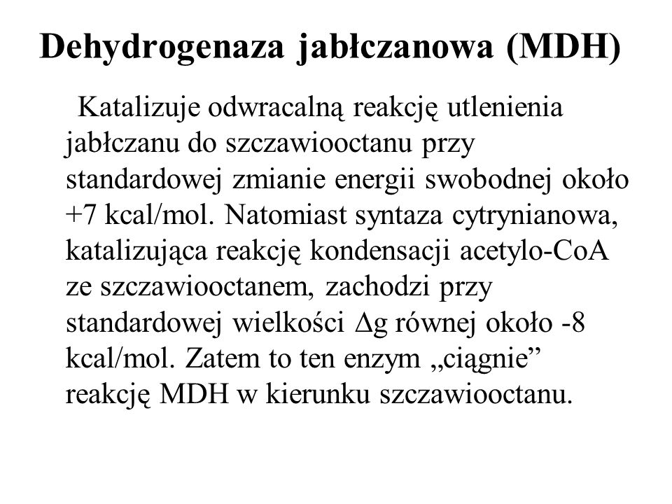 Dehydrogenaza jabłczanowa (MDH)