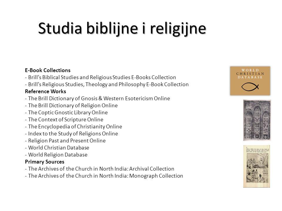 Studia biblijne i religijne