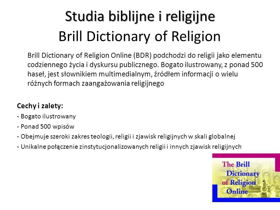 Studia biblijne i religijne Brill Dictionary of Religion