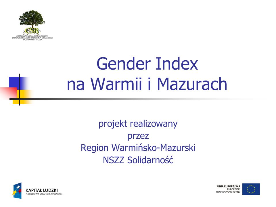Gender Index na Warmii i Mazurach