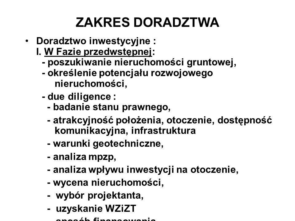 ZAKRES DORADZTWA