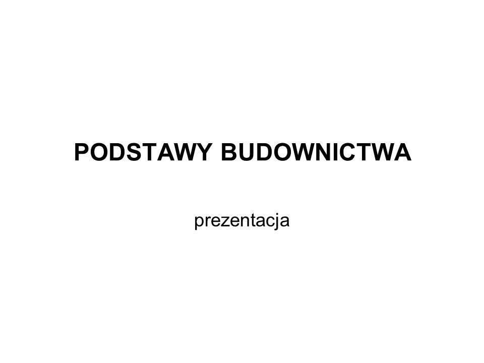 PODSTAWY BUDOWNICTWA prezentacja