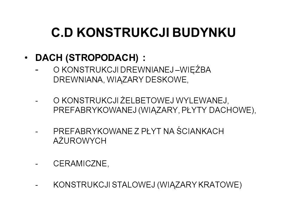 C.D KONSTRUKCJI BUDYNKU