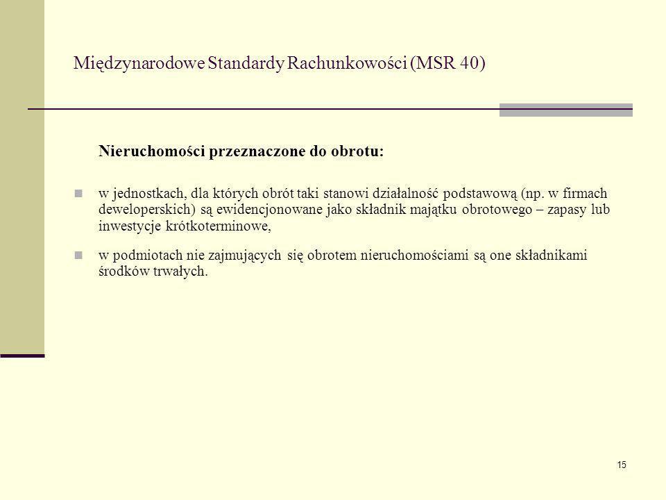Międzynarodowe Standardy Rachunkowości (MSR 40)