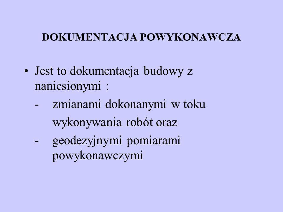 DOKUMENTACJA POWYKONAWCZA
