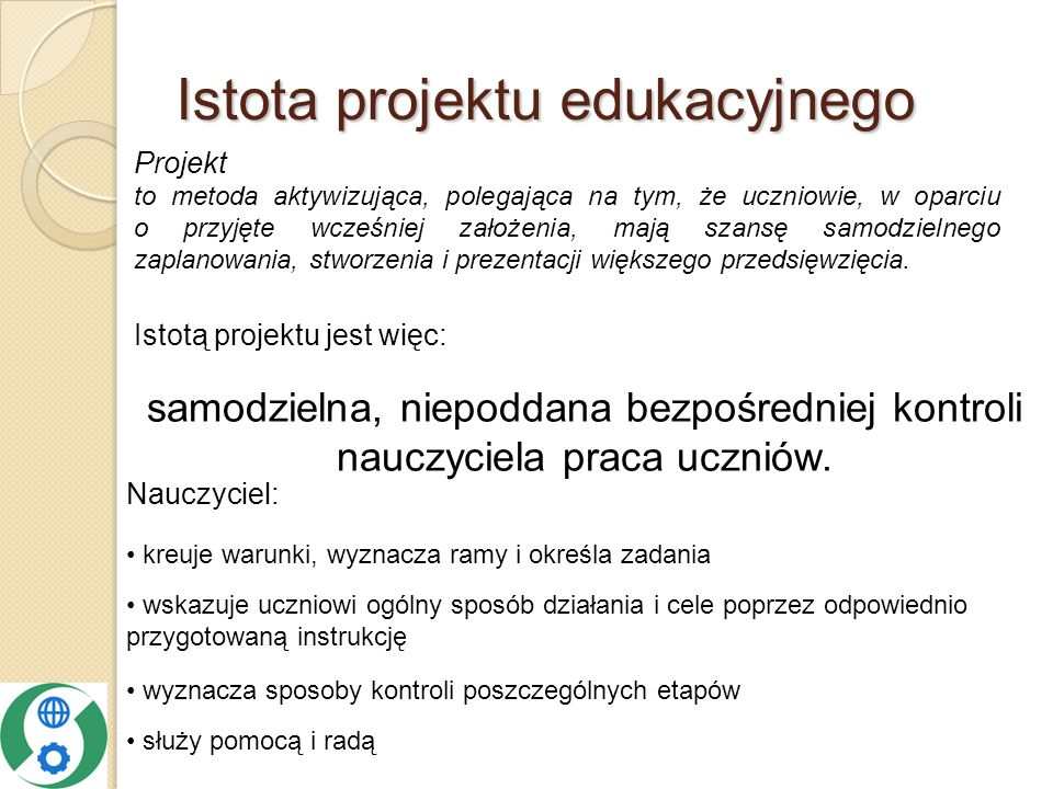 Istota projektu edukacyjnego