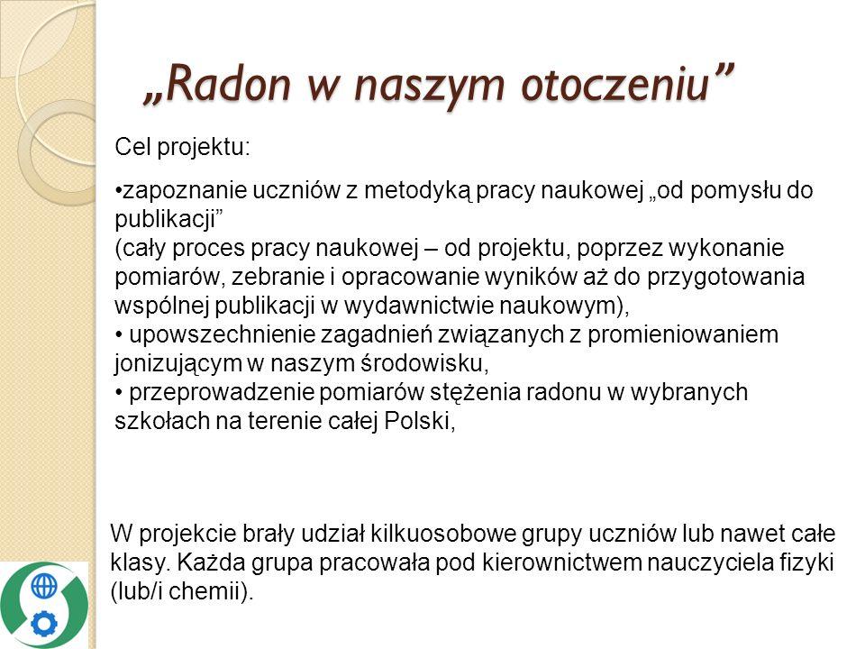 """""""Radon w naszym otoczeniu"""