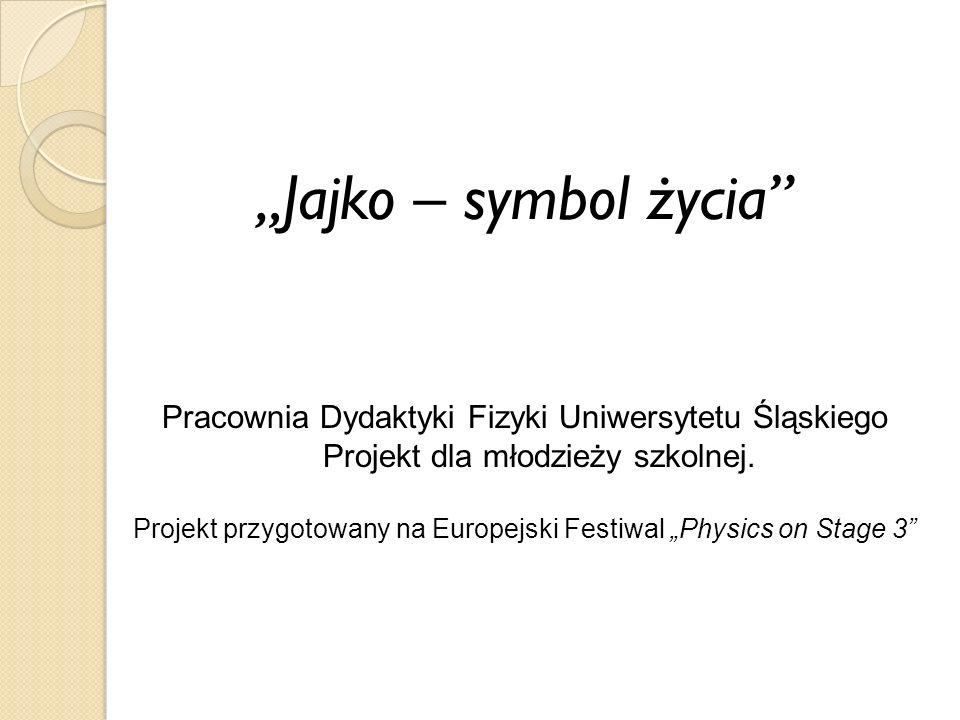 "Projekt przygotowany na Europejski Festiwal ""Physics on Stage 3"