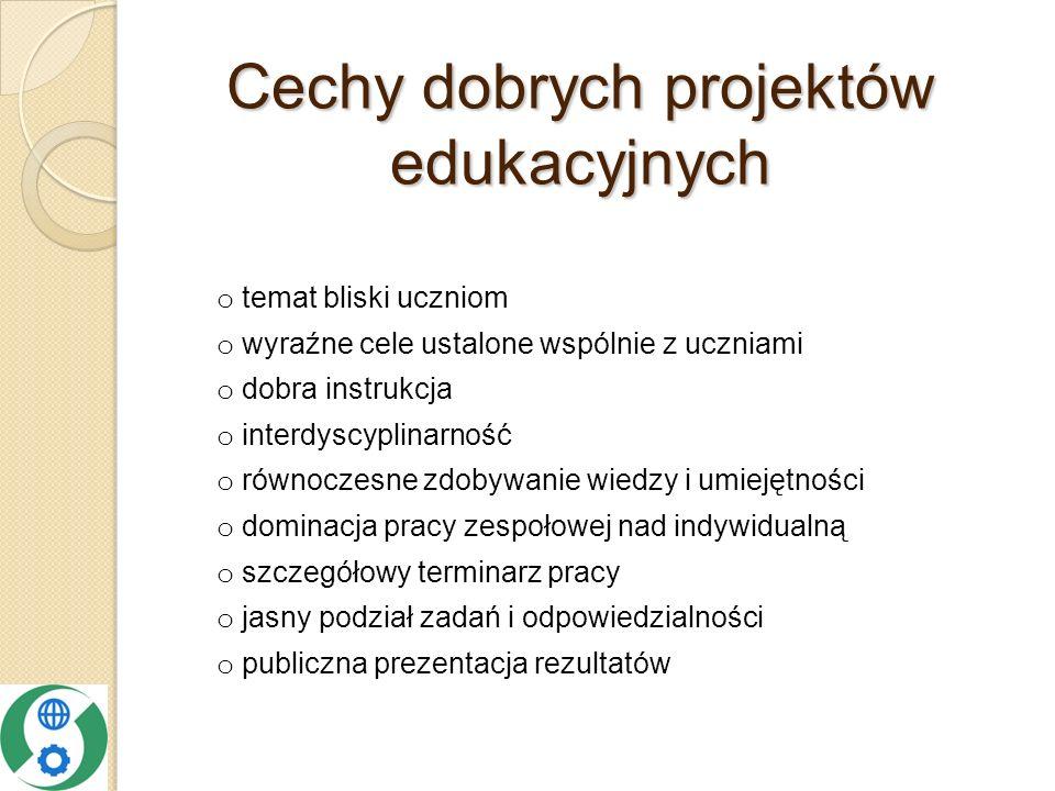 Cechy dobrych projektów edukacyjnych