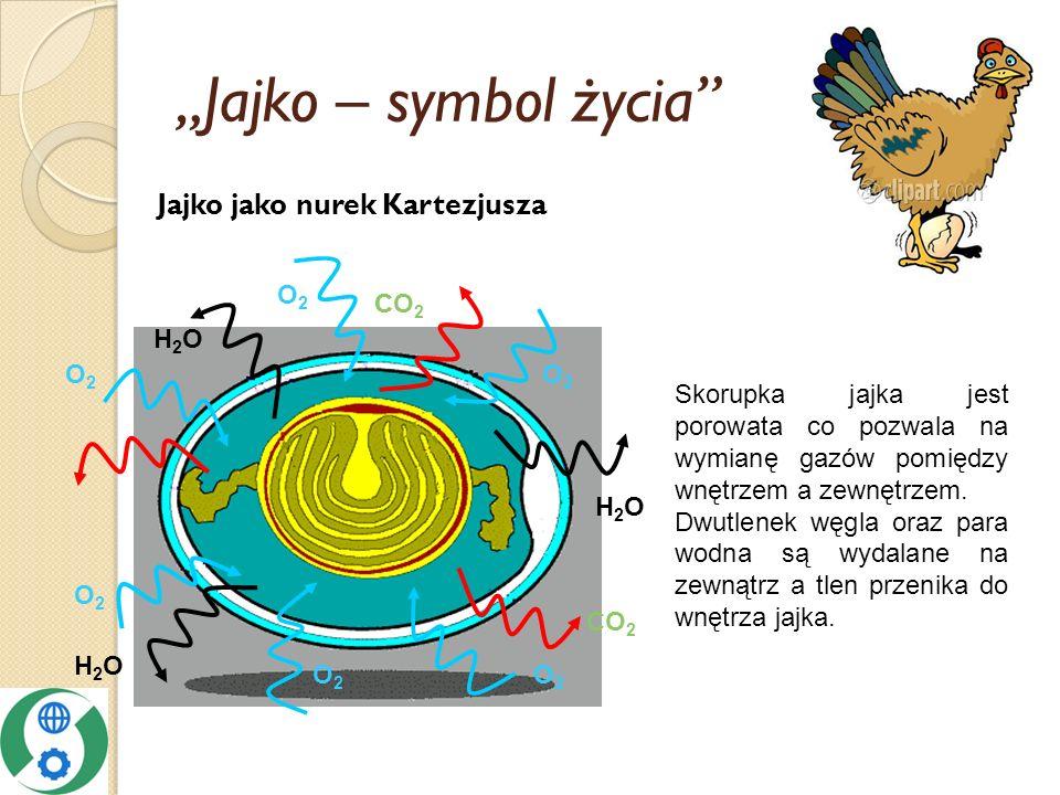 """Jajko – symbol życia Jajko jako nurek Kartezjusza H2O CO2 O2 C"
