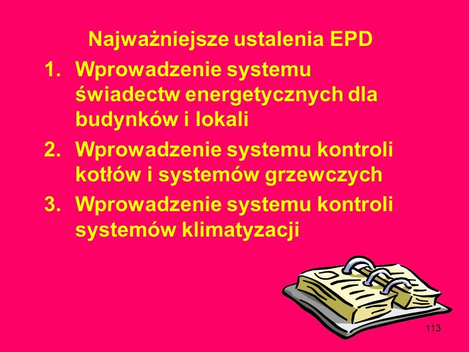 Najważniejsze ustalenia EPD
