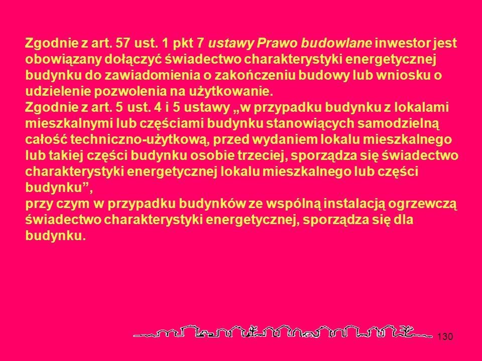 Zgodnie z art. 57 ust. 1 pkt 7 ustawy Prawo budowlane inwestor jest obowiązany dołączyć świadectwo charakterystyki energetycznej budynku do zawiadomienia o zakończeniu budowy lub wniosku o udzielenie pozwolenia na użytkowanie.