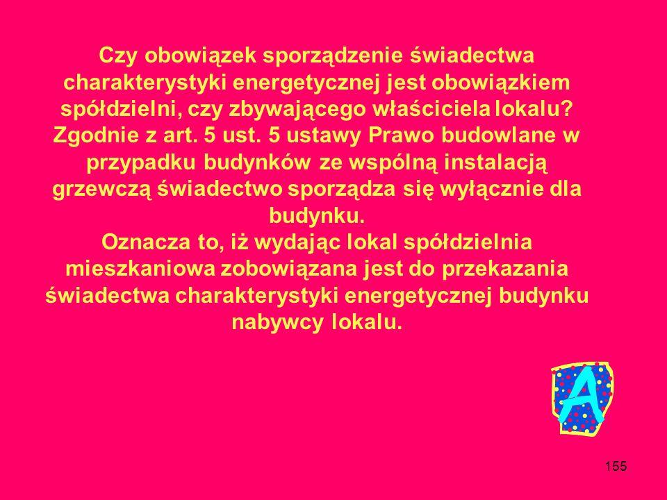 Czy obowiązek sporządzenie świadectwa charakterystyki energetycznej jest obowiązkiem spółdzielni, czy zbywającego właściciela lokalu
