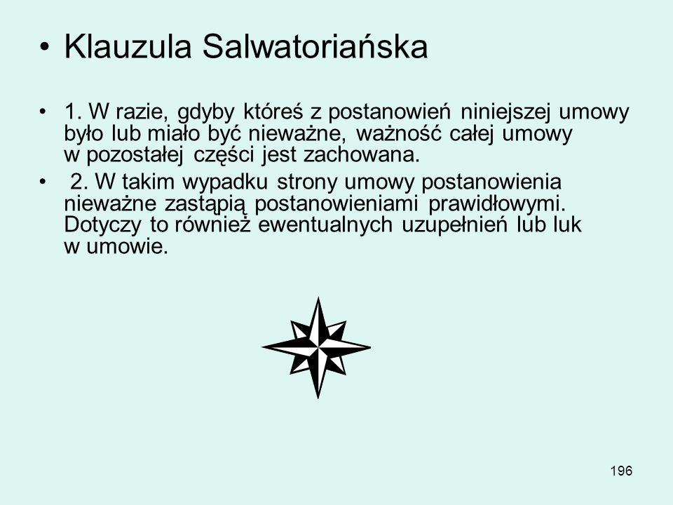 Klauzula Salwatoriańska
