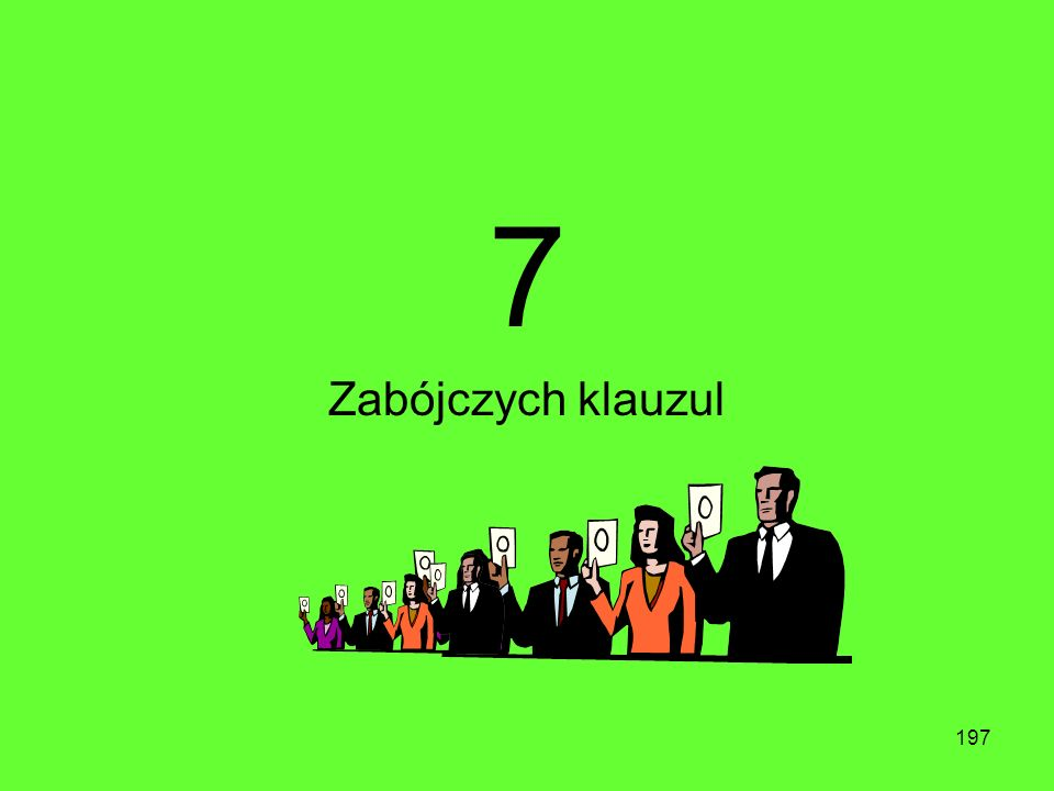 7 Zabójczych klauzul