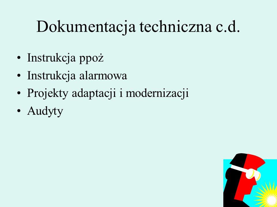 Dokumentacja techniczna c.d.