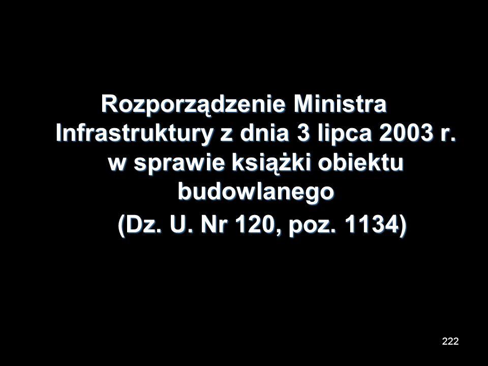 Rozporządzenie Ministra Infrastruktury z dnia 3 lipca 2003 r