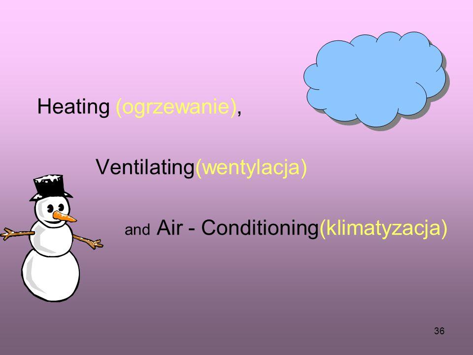 Heating (ogrzewanie), Ventilating(wentylacja) and Air - Conditioning(klimatyzacja)