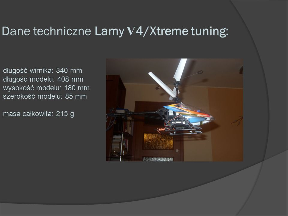 Dane techniczne Lamy V4/Xtreme tuning: