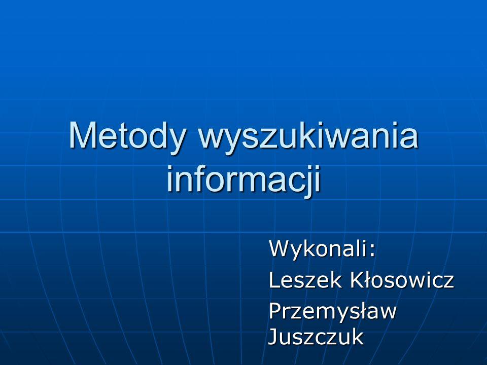 Metody wyszukiwania informacji