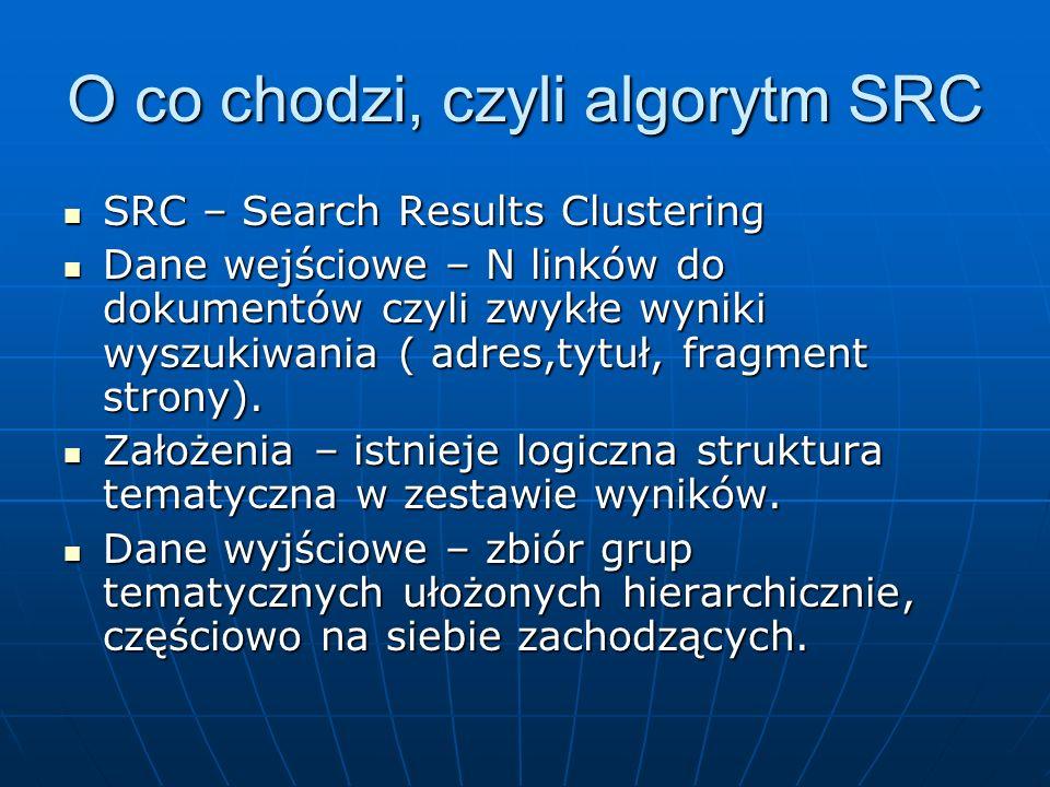 O co chodzi, czyli algorytm SRC