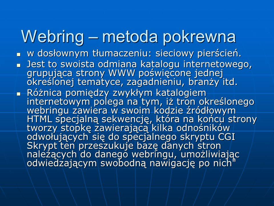 Webring – metoda pokrewna