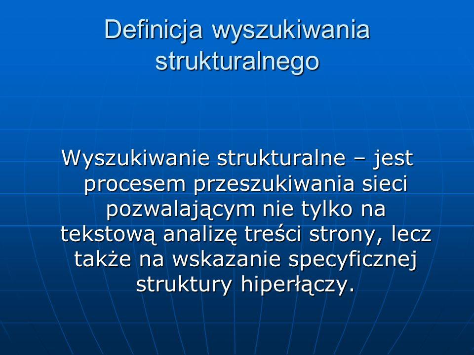 Definicja wyszukiwania strukturalnego