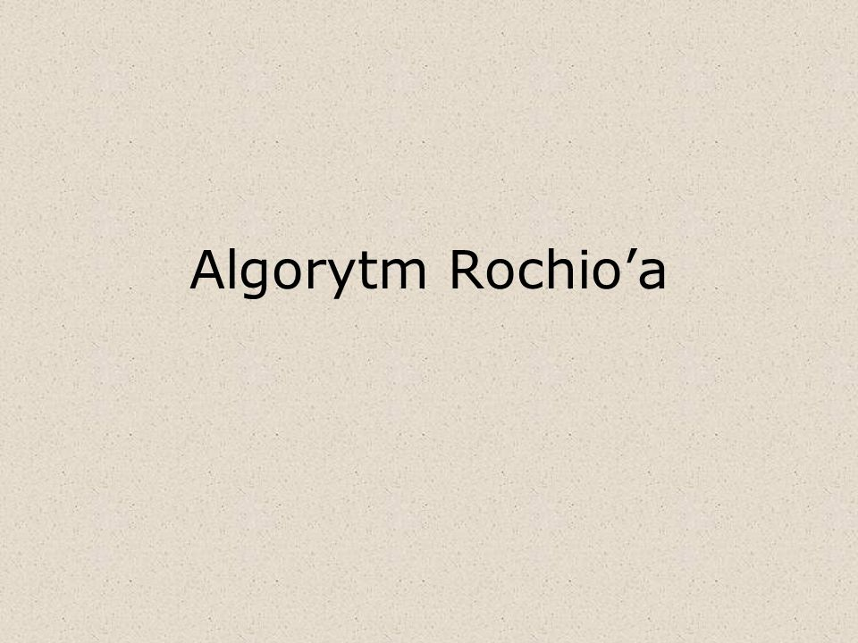 Algorytm Rochio'a