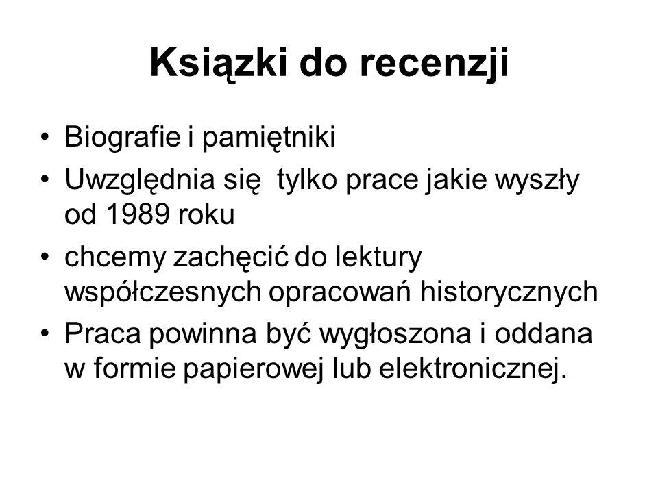 Ksiązki do recenzji Biografie i pamiętniki