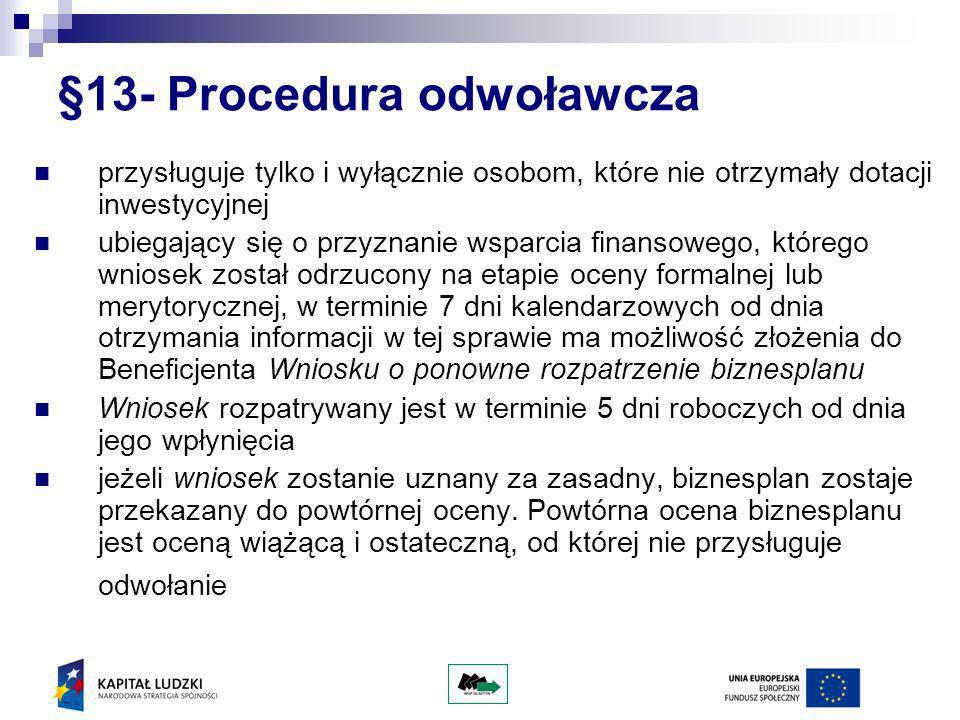 §13- Procedura odwoławcza