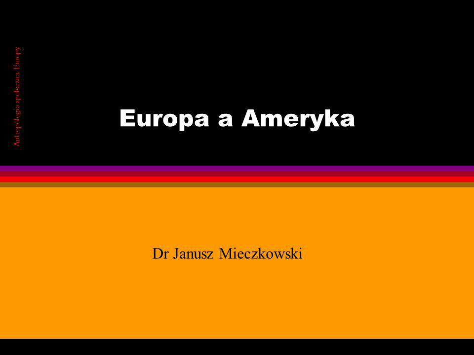 Antropologia społeczna Europy