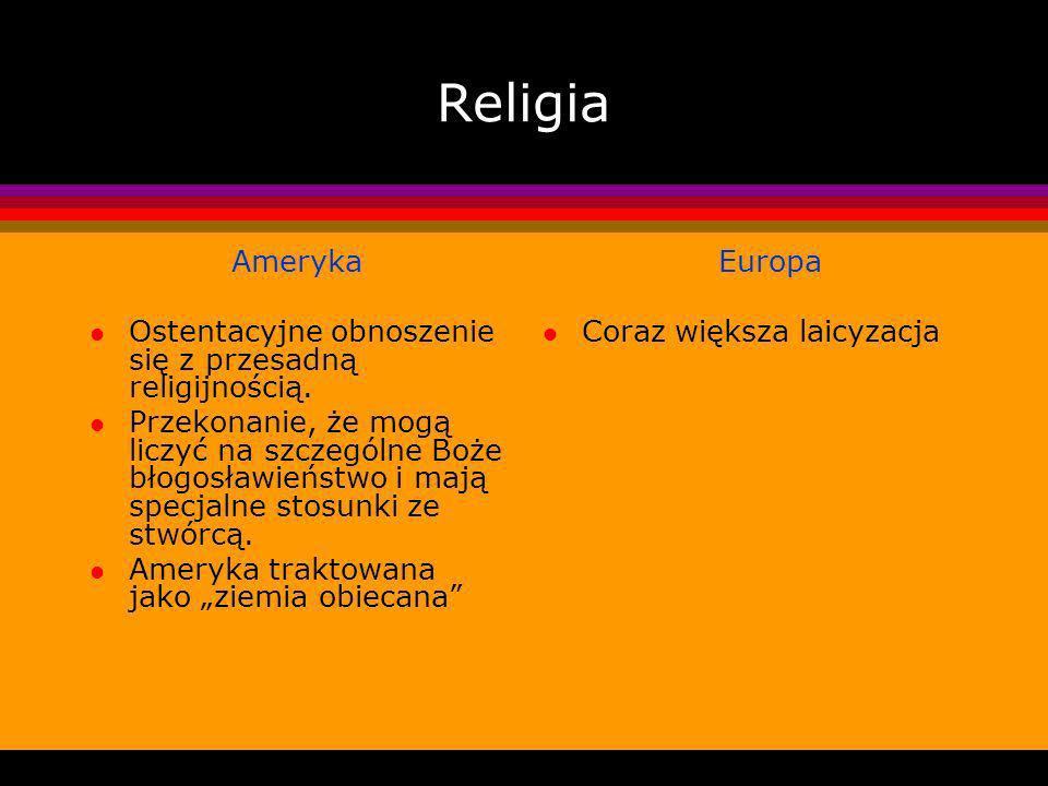 Religia Ameryka Ostentacyjne obnoszenie się z przesadną religijnością.