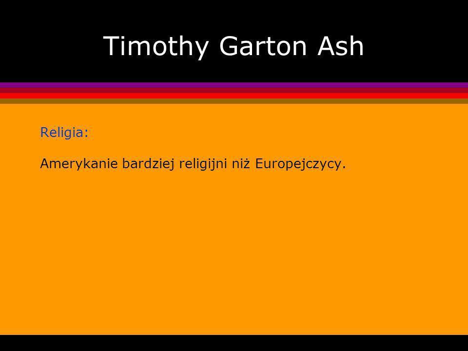 Timothy Garton Ash Religia: