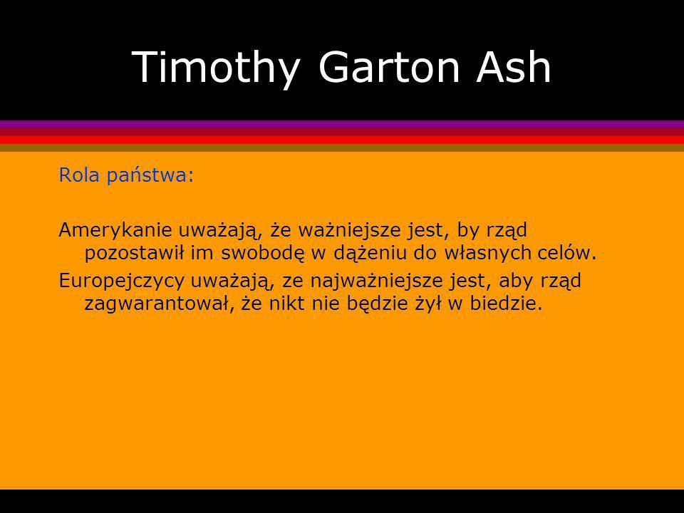 Timothy Garton Ash Rola państwa:
