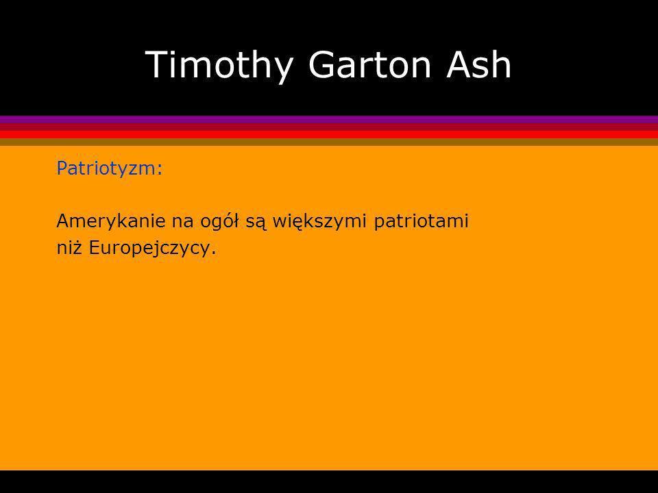 Timothy Garton Ash Patriotyzm: