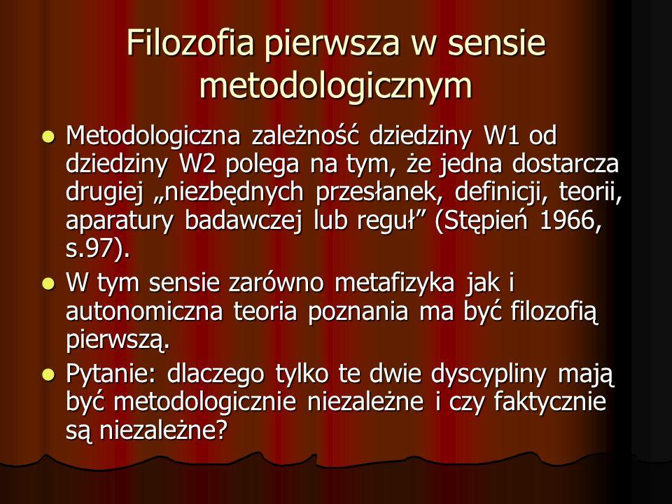 Filozofia pierwsza w sensie metodologicznym