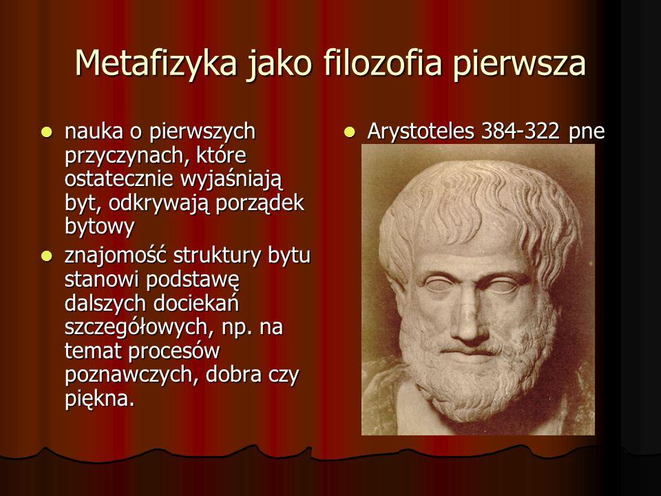 Metafizyka jako filozofia pierwsza