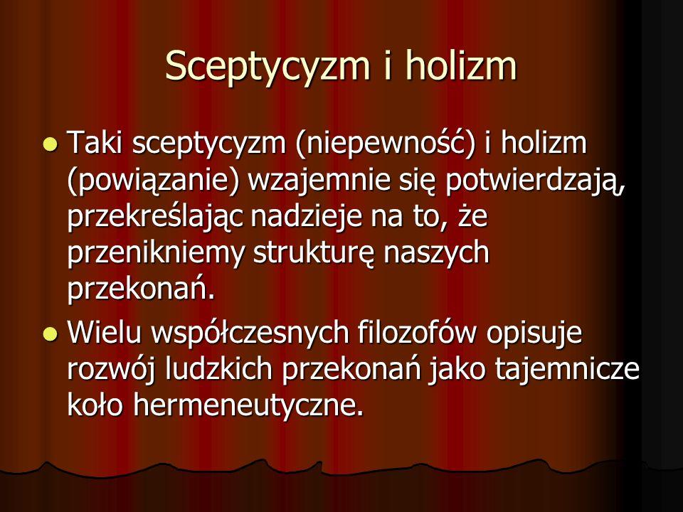 Sceptycyzm i holizm