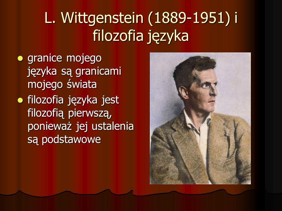 L. Wittgenstein (1889-1951) i filozofia języka