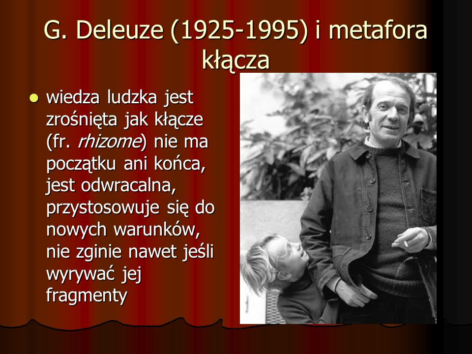 G. Deleuze (1925-1995) i metafora kłącza