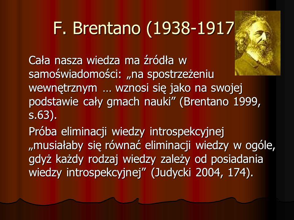 F. Brentano (1938-1917)