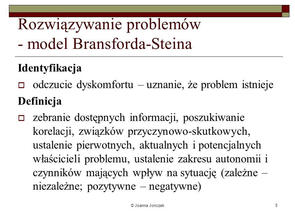 Rozwiązywanie problemów - model Bransforda-Steina