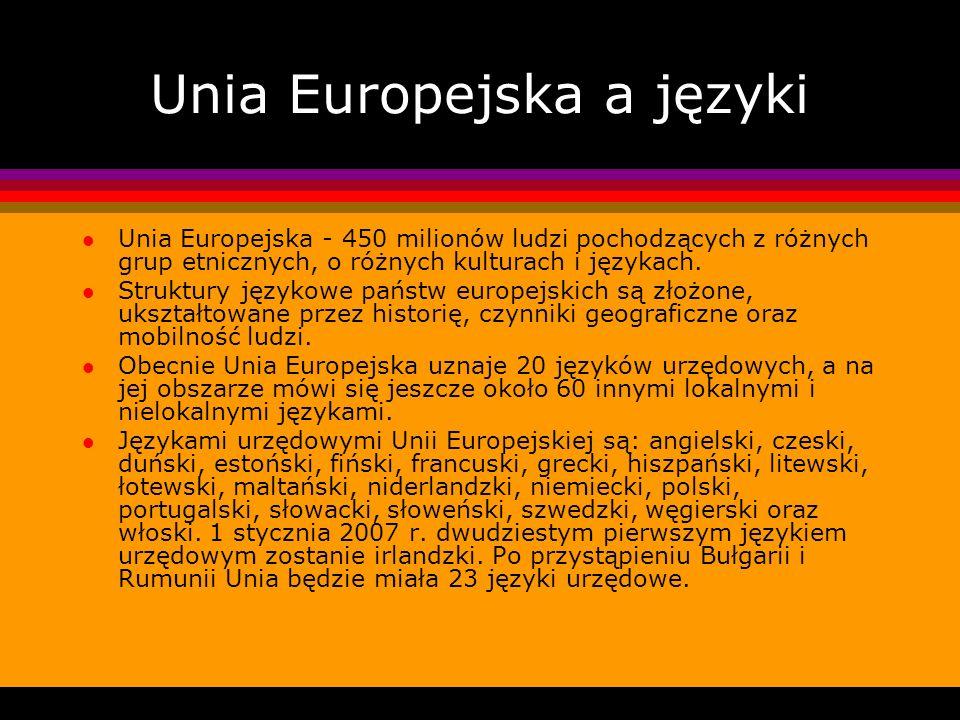 Unia Europejska a języki