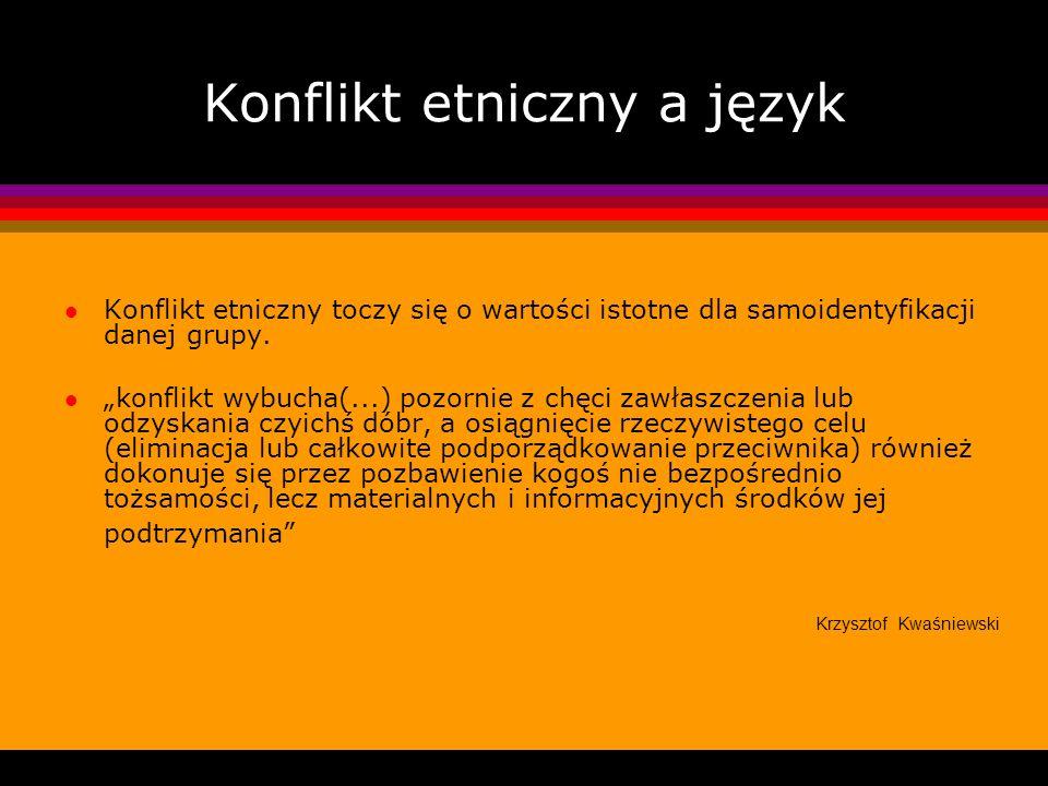 Konflikt etniczny a język