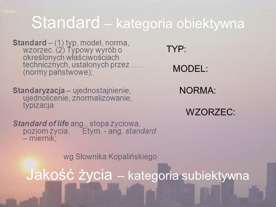 Standard – kategoria obiektywna