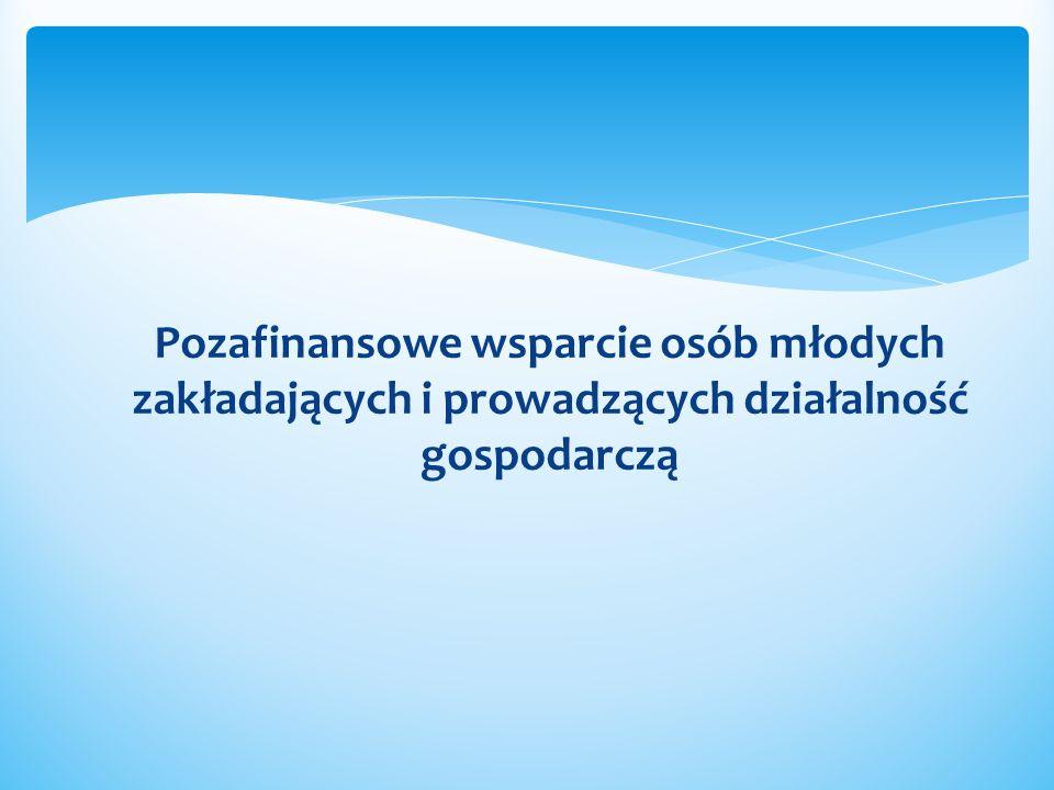 Pozafinansowe wsparcie osób młodych zakładających i prowadzących działalność gospodarczą