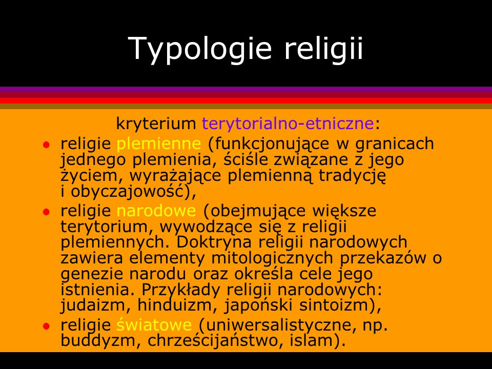 kryterium terytorialno-etniczne: