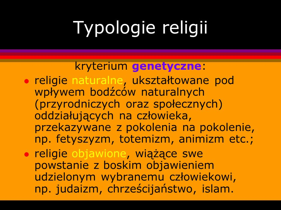 kryterium genetyczne: