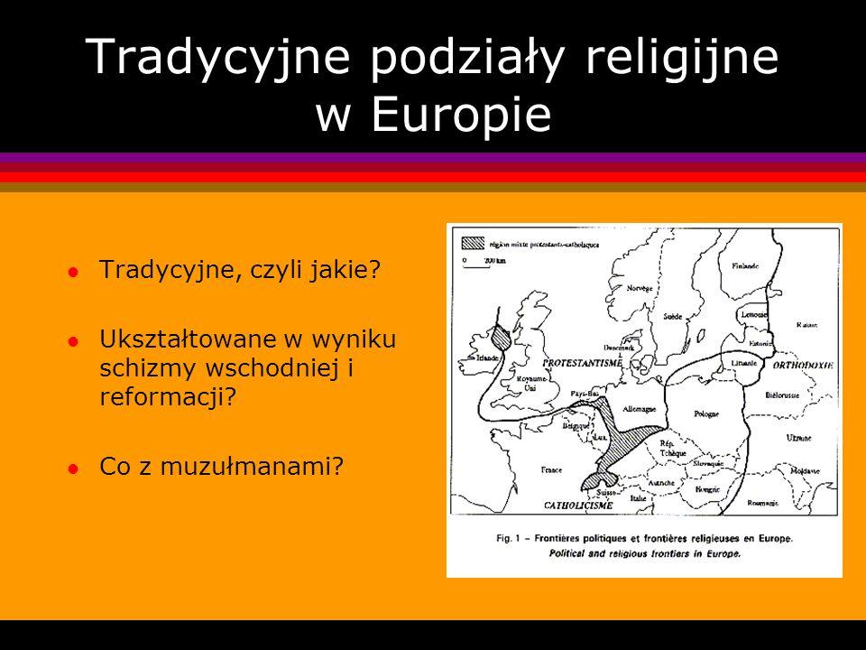 Tradycyjne podziały religijne w Europie